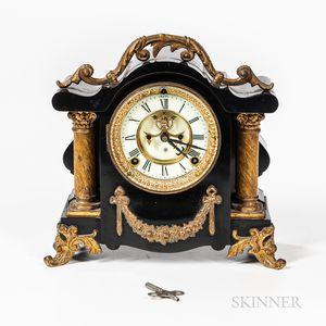 Ansonia Enameled and Gilt-bronze Mantel Clock