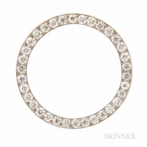 Art Deco Tiffany & Co. Platinum and Diamond Circle Brooch