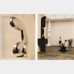 Soichi Sunami (Japanese/American, 1885-1971)      Two Brancusi Exhibition Installation Images.