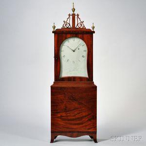 Aaron Willard Mahogany Shelf Clock