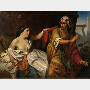 Attributed to Albert Bierstadt (American, 1830-1902)      Joseph and Potiphar's Wife