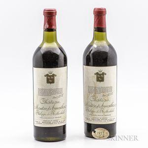 Mouton dArmailhacq 1953, 2 bottles
