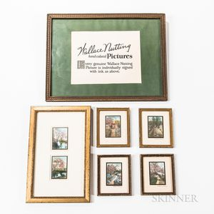 Six Wallace Nutting Hand-colored Photographs and an Advertisement
