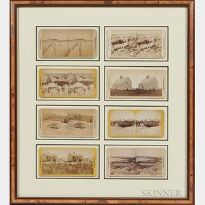 Eight Stereocards of Nantucket Framed Together