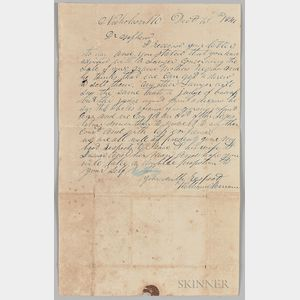 "Letter Concerning the ""Sale of Grandmother's Negroes,"""