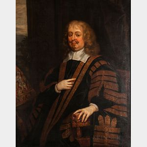 After Sir Peter Lely (Dutch, 1618-1680)      Seated Portrait of Edward Hyde, First Earl of Clarendon and Lord High Chancellor