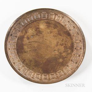 Tiffany Studios Bronze Footed Dish