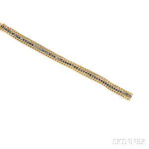 18kt Gold and Sapphire Bracelet, Cartier