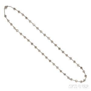 Art Deco Platinum and Diamond Chain, Tiffany & Co.