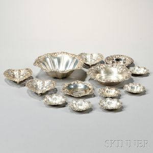 Thirteen American Sterling Silver Dishes