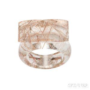 Rutilated Quartz Ring, Tina Chow