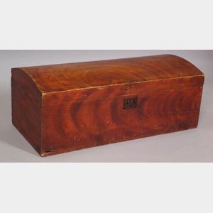 Grain Painted Dome-top Trunk