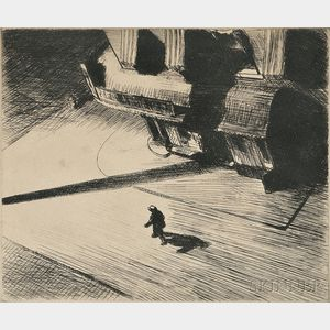 Edward Hopper (American, 1882-1967)      Night Shadow