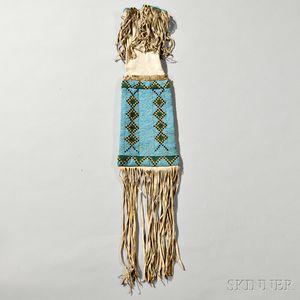 Blackfeet Beaded Hide Pipe Bag