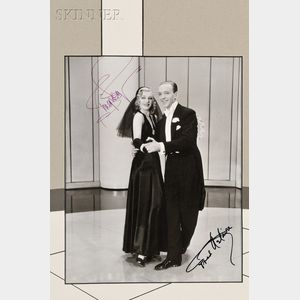 American School, 20th Century      Two Framed Autographed Photographs: Fred Astaire and Ginger Rogers from Shall We Dance