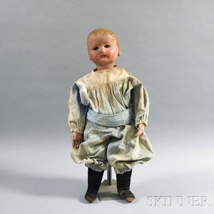 Large Martha Chase-type Oil-painted Stockinette Baby Boy Doll