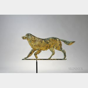 "Gilt and Molded Sheet Copper ""Ranger"" Setter Weathervane"