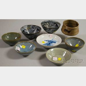 Eight Small Asian Ceramic Bowls
