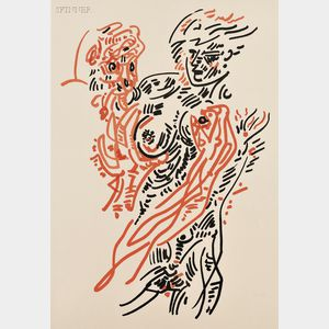 André Masson (French, 1896-1987)      Man and Woman