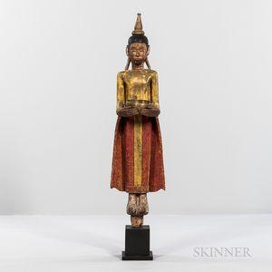 Giltwood Statue of Buddha