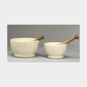 """Two Wedgwood """"Best Composition"""" Mortars and Pestles"""