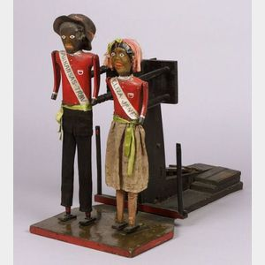 """Arkansas-Trav and Eliza-Jane"" Black Dancing  Folk Automaton"