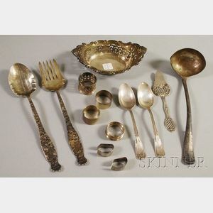 Group of Silver and Silver-plated Serving and Table Items