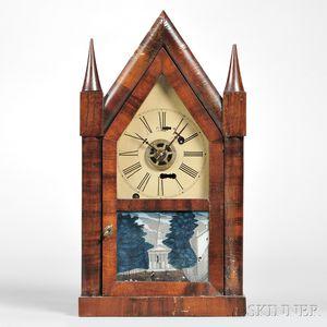 Silas B. Terry Miniature Torsion Steeple Clock