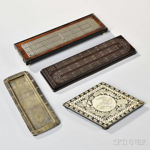 Four Cribbage Boards