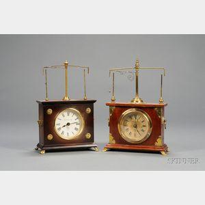 Two Ignatz Torsion Pendulum Clocks