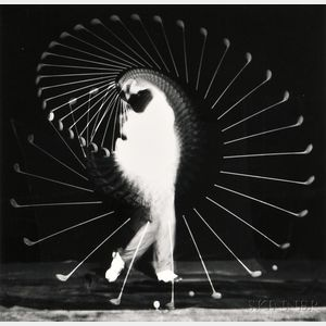 Harold Eugene Edgerton (American, 1903-1990)      Two Athletic Studies: Moving Skip Rope
