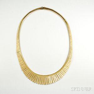 18kt Gold Fringe Necklace
