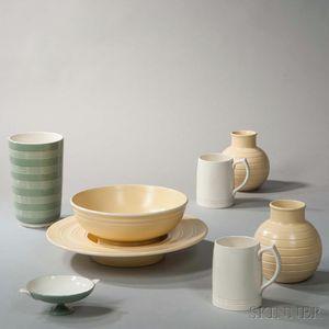 Eight Wedgwood Keith Murray Design Items