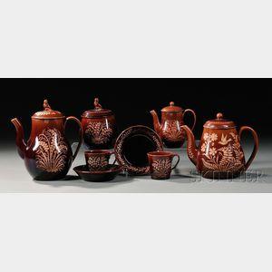 Six Wedgwood Rockingham Glazed Vigornian Tableware Items
