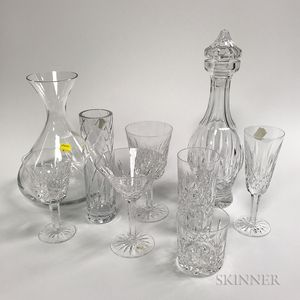 """Approximately Seventy-two Pieces of Colorless Waterford """"Lismore"""" Tableware."""