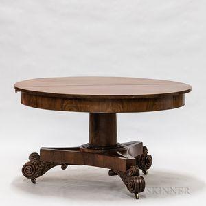 Empire Mahogany Extension Pedestal Dining Table