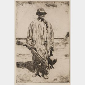 Frank Weston Benson (American, 1862-1951)      Old Tom