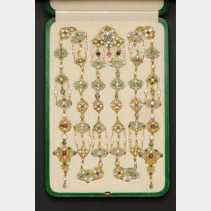 Sold for: $402,000 - Renaissance Revival Enamel and Gem-set Longchain, Tiffany & Co.