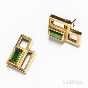 14kt Gold and Tourmaline Earrings