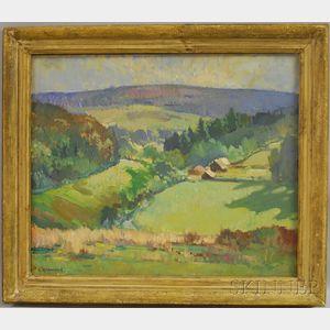 Leonard Richmond (British, 1889-1965)      An English Landscape