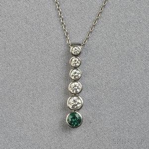 "Platinum and Diamond ""Jazz"" Pendant, Tiffany & Co."