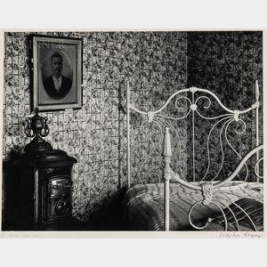 Walker Evans (American, 1903-1975)      Bed and Stove, Truro, Massachusetts