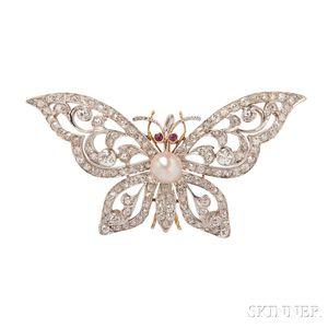 Edwardian Butterfly Pendant/Brooch