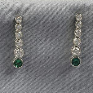 "Platinum and Diamond ""Jazz"" Earpendants, Tiffany & Co."