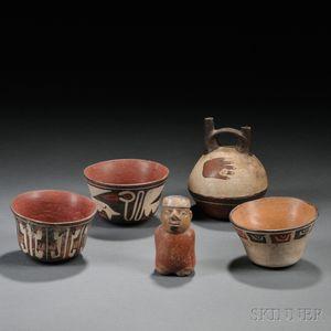 Five Nasca Pottery Items