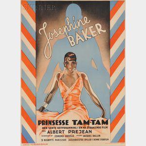 Svend Koppel (Danish, 1904-1978)      Josephine Baker - Prinsesse Tam-Tam