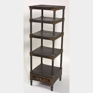 Classical Paint-decorated Etagere