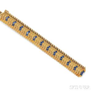 18kt Gold and Sapphire Bracelet
