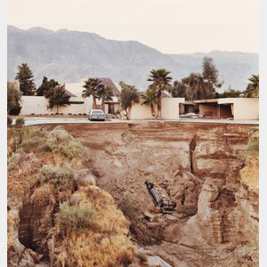 Sold for: $5,100 - Joel Sternfeld (American, b. 1944)      After a Flash Flood, Rancho Mirage, California, July 1979