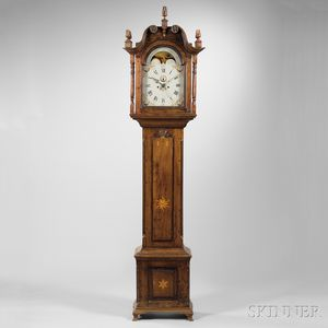 Pennsylvania Walnut Inlaid Tall Clock